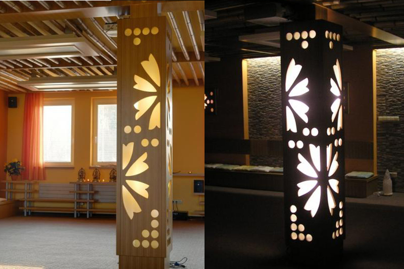 Sample realization: Decorative LED column